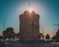 Lefkos Pirgos a Salonicco, Grecia Fotografia Stock Libera da Diritti