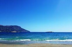 Lefkos strand, Karpathos ö, Grekland arkivbild