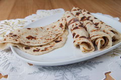 Lefse - close up Royalty Free Stock Images