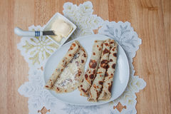 Lefse - top view Stock Photography