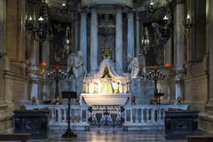 Left apse chapel of Genoa Cathedral, Italy Stock Photo