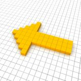 Left arrow 3d icon. In grid. Rendered illustration Stock Photography