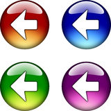 Left Arrow glossy button icon Royalty Free Stock Photo