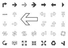 Left arrow icon. Arrow  illustration icons set. Left arrow icon. Arrow  illustration icons set Royalty Free Stock Photos
