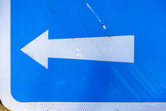 Left arrow on road sign Royalty Free Stock Photography