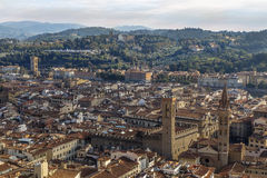 Left bank of the Arno Rive Stock Images