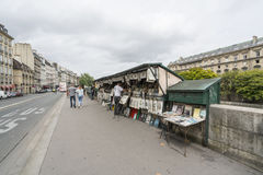 The left bank of the Seine in Paris Stock Image