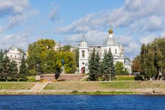 Left Bank of the Volga river in Tver, Russia Royalty Free Stock Photo
