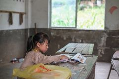 Students in Guizhou mountain region Stock Photography