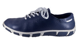 Left blue shoe isolated on a white Royalty Free Stock Photography