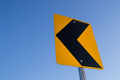 Left curve ahead. Stock Image