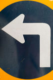 Left direction. Traffic signs abstract background stock image