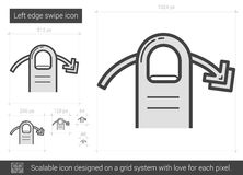 Left edge swipe line icon. Royalty Free Stock Photography
