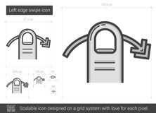Left edge swipe line icon. Royalty Free Stock Images