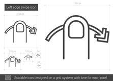 Left edge swipe line icon. Stock Photos