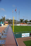 The Left Field Foul Pole at Hammond Stadium. Hammond Stadium is a baseball field located in the CenturyLink Sports Complex in South Fort Myers, Florida, United Royalty Free Stock Image