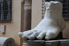 Left Foot of Colossus of Constantine Royalty Free Stock Photography