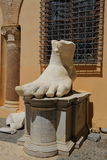 Left foot of Roman Emperor Constantine, Rome. Italy Royalty Free Stock Photo