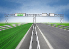 Left green eco faster highway track Stock Images