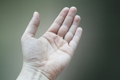 Left hand details Royalty Free Stock Images