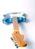 Left-Handed Guitar 2. Blue Left Handed Electric Guitar royalty free stock photo