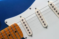 Left-Handed Guitar. Fret of Left Handed Electric Guitar Royalty Free Stock Photography