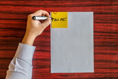 Left handed writing Royalty Free Stock Photos