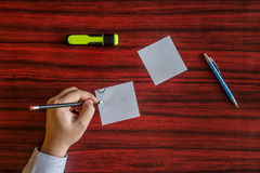 Left handed writing Royalty Free Stock Images