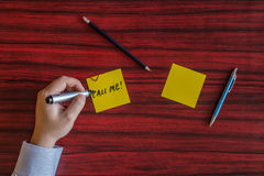 Left handed writing Royalty Free Stock Image