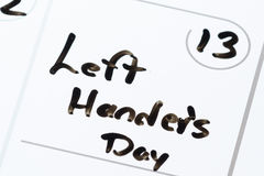 Left handers day Royalty Free Stock Image