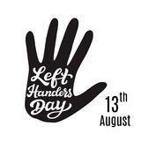 Left Handers Day typography poster Royalty Free Stock Photography