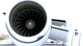 Left jet engine stock video