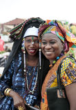 Left: just-married Fula, right: wolof (tribe) women, Gambia Stock Images