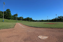 Left Line Ball Field Stock Image