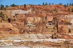 Left mine. Ruins of the left mines of Rio Tinto (Spain Stock Photography