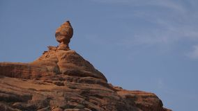 Left Pan of a Rock Formation in Arches National Park stock video footage