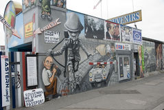 Left part of the berlin wall east side gallery Stock Photos
