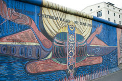 Left part of the berlin wall Stock Photo