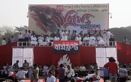 Left Parties Brigade Rally Stock Images