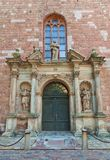 Left portal (1692) of St. Peter church in Riga, Latvia Royalty Free Stock Image
