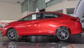 Left Red Toyota Yaris Ativ 2020 Car in Car Showroom