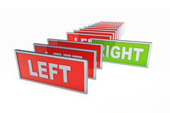 Left and right Royalty Free Stock Photo