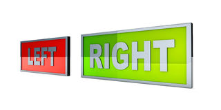 Left and right Royalty Free Stock Photos