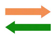 Left and right arrow buttons vector illustration