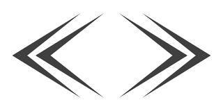 Left and right arrows. Vector illustration. Left and right arrow icons isolated. Vector illustration. Set of black arrows Stock Photos