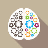 Left and right brain illustration Stock Photography