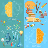 Left and right brain, logic and creativity Royalty Free Stock Photography