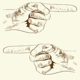 Left and right hand with pointing finger Royalty Free Stock Photography