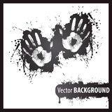 Left and right hand print background. Left and right hand print Stock Photos