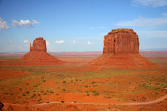 Left and Right Mittens - Monument Valley, Arizona Royalty Free Stock Photos
